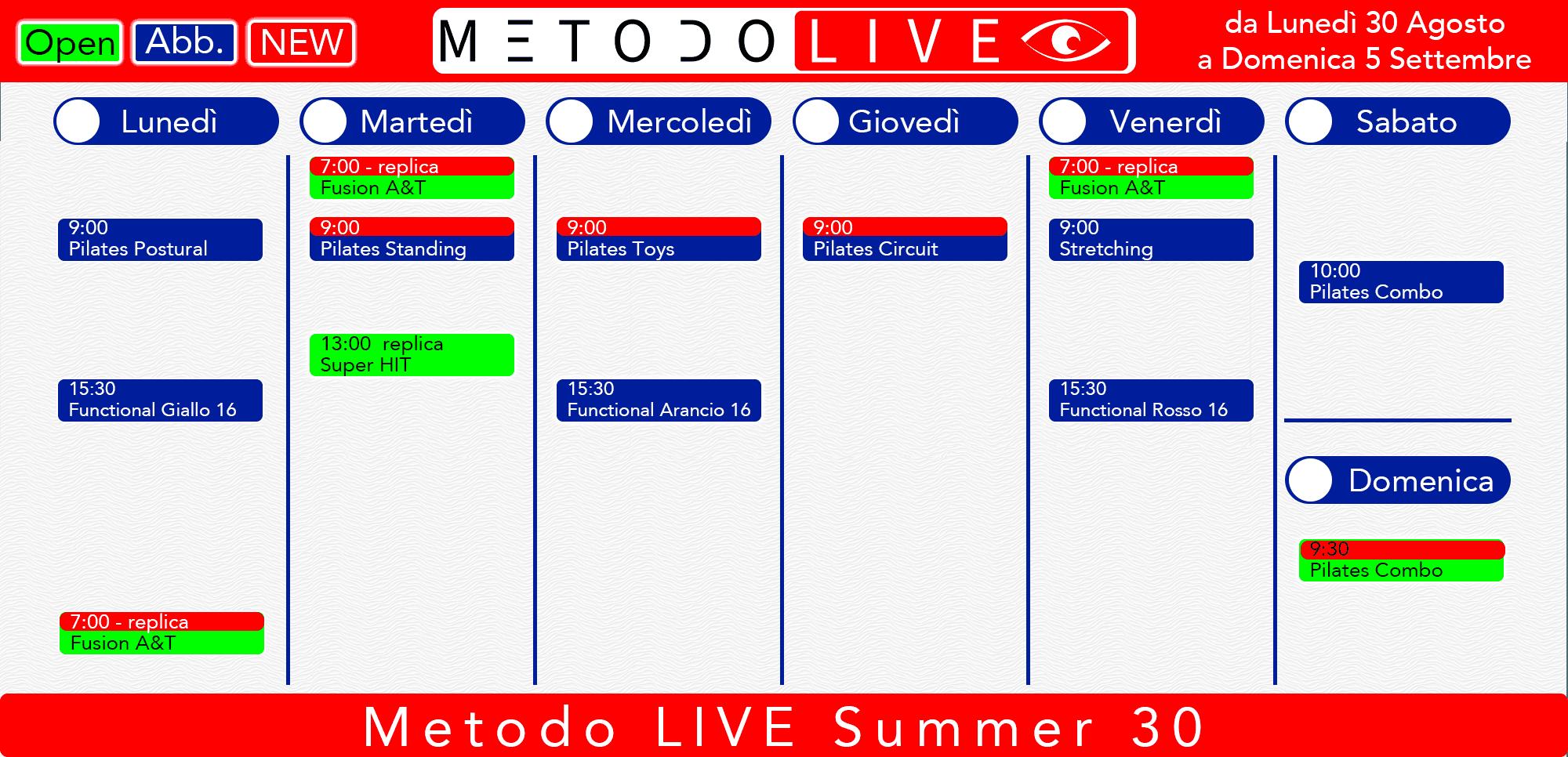 orario LIVE